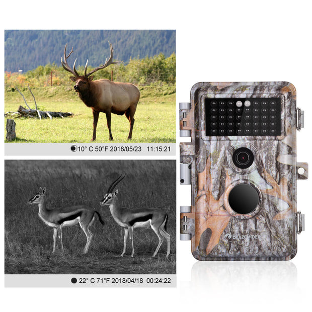 2-Pack Game Trail Cameras & Deer Cams for Wildlife Hunting 20MP 1080P HD Video with Night Vision Motion Activated Waterproof IP66