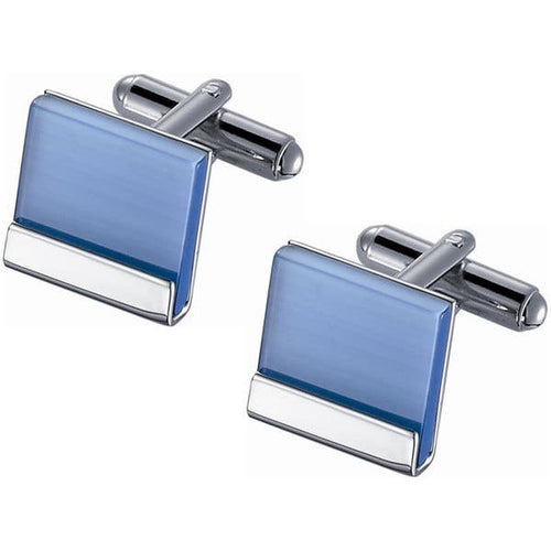 Light Blue Catseye Cufflink