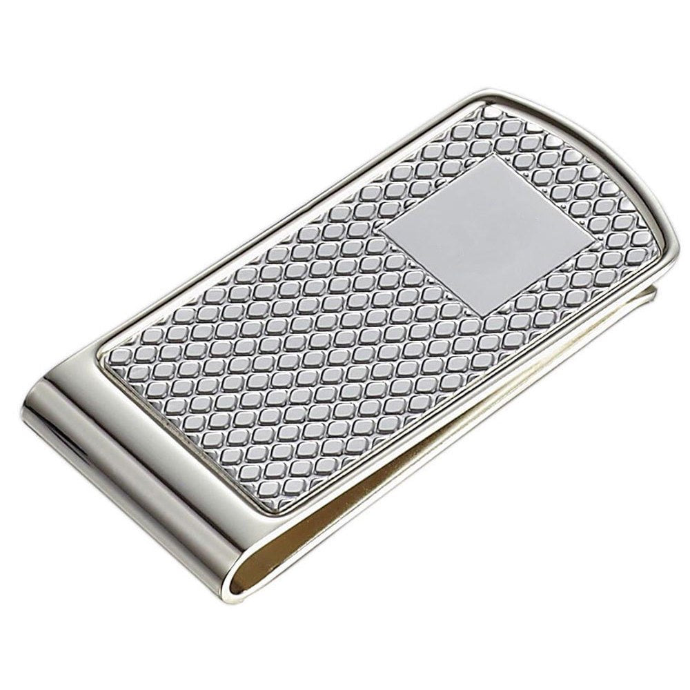 Visol Diamond Polished Silver Plated Money Clip