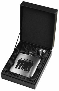 Groom's Engourage Stainless Steel Flask and Funnel Gift Set