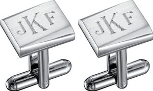"""Saturn"" Stainless Steel Engravable Cufflinks"