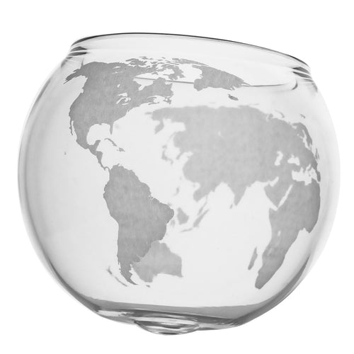 Spinning Globe Whiskey Glasses