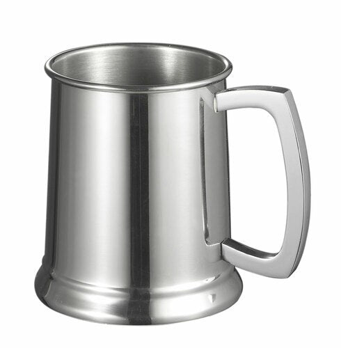 16 OZ DOVER MIRROR POLISHED STEEL BEER TANKARD