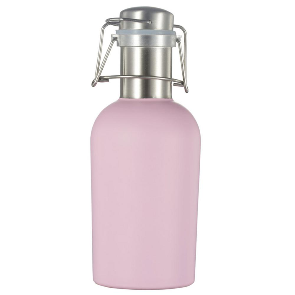 Cassis Stainless Steel 32oz Beer Growler - Matte Pink