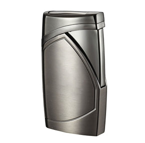 Shark Satin Gunmetal Single Torch Flame Cigar Lighter