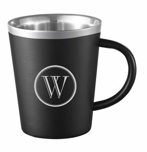 EYRIE MATTE BLACK STAINLESS STEEL COFFEE MUG