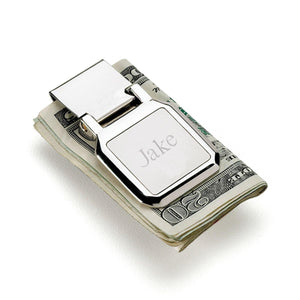 Personalized Folding Money Clip and Wallet