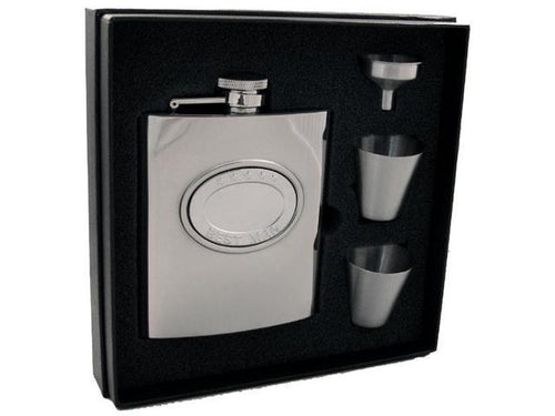 5 Stars Best Man Stainless Steel 8oz Deluxe Flask Gift Set