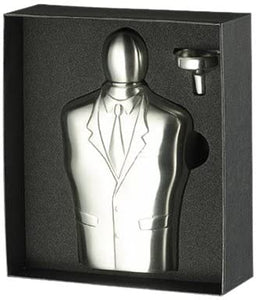 Tuxedo Satin Stainless Steel 6oz & Funnel Gift Set