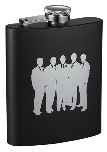 RAVEN ENTOURAGE BLACK MATTE FLASK - 8 OUNCES