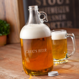 Personalized Growler - Beer - Glass - 64 oz