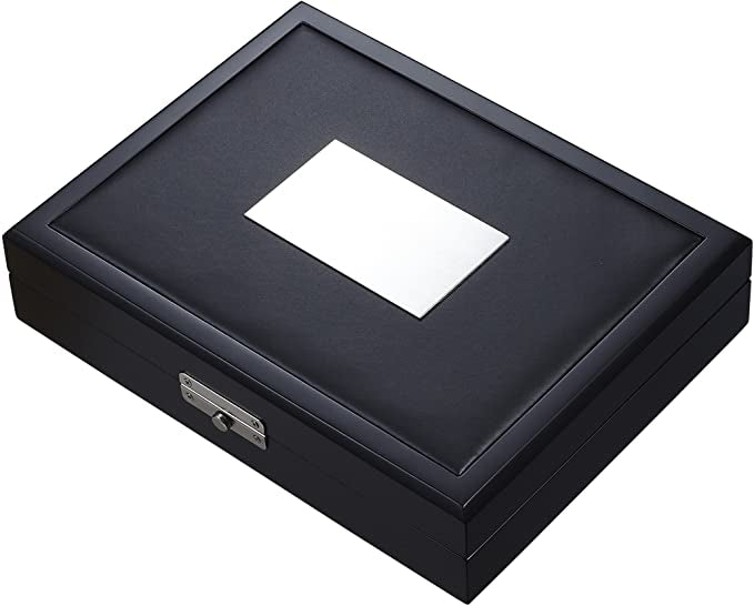 Drako Black Travel Cigar Humidor - Holds 19 Cigars