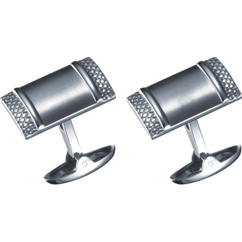 Impresio Rectangular Stainless Steel Cufflinks