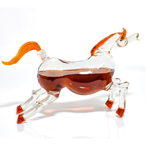 Grand Palomino Horse Decanter