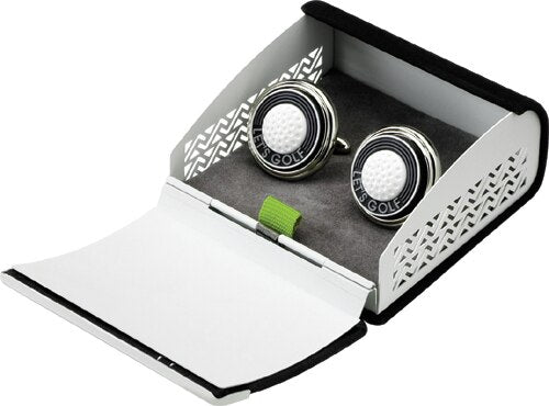 TEE TIME CUFFLINKS IN SUEDE GIFT BOX