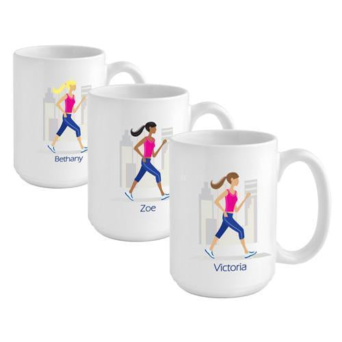 Go-Girl Coffee Mug - Runner