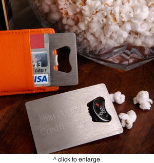 Personalized Credit Card Bottle Opener-Groomsmen Gift Store