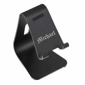 BRISTOL SANDBRUSHED BLACK ALUMINUM MOBILE PHONE STAND / HOLDER