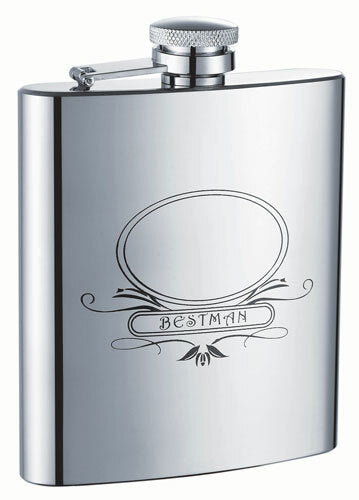 BESTMAN STAINLESS STEEL 8OZ HIP FLASK