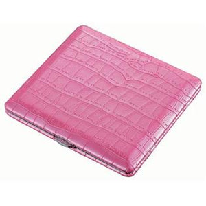 Hot Pink Leather Cigarette Case