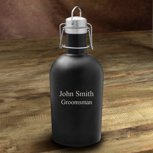 Black Matte Stainless Growler-Groomsmen Gift Store