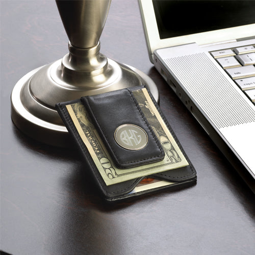 Personalized Leather Wallet & Money Clip-Groomsmen Gift Store