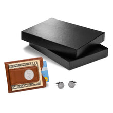 Brown Leather Wallet and Cufflink Gift Set-Groomsmen Gift Store