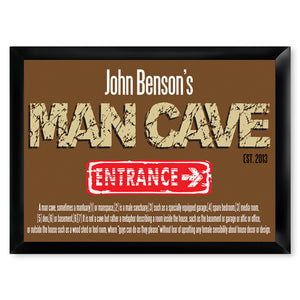 Personalized Premium Man Cave / Pub Sign - Defined