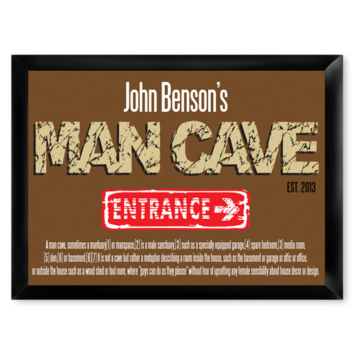 Personalized Premium Man Cave / Pub Sign - Defined-Groomsmen Gift Store