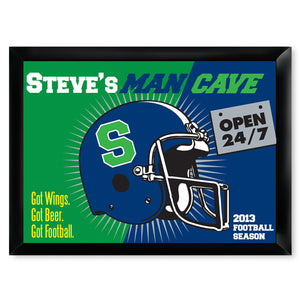 Personalized Premium Man Cave / Pub Sign - Open 24/7-Groomsmen Gift Store