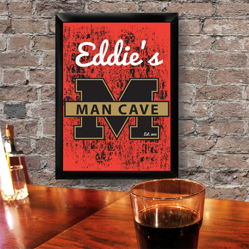 Personalized Premium Man Cave / Pub Sign - Stadium