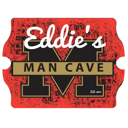 Personalized Premium Man Cave / Pub Sign - Stadium Composite Wood Base-Groomsmen Gift Store