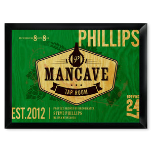 Personalized Premium Man Cave / Pub Sign - Taproom-Groomsmen Gift Store