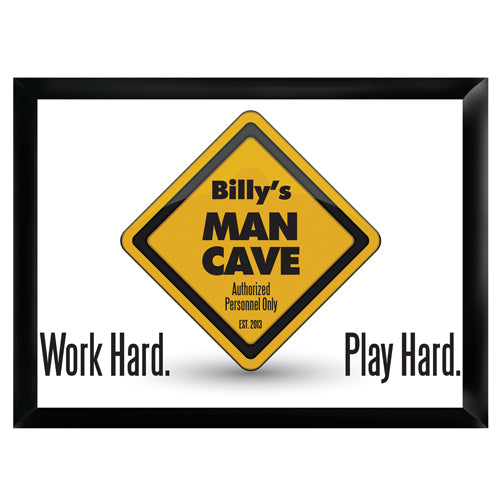 Personalized Premium Man Cave / Pub Sign - Work Hard