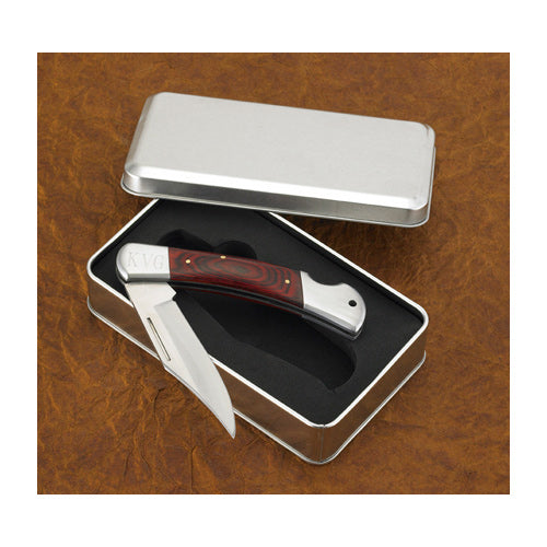 Yukon Lock Back Knife in Tin Case-Groomsmen Gift Store