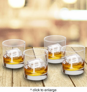 Personalized Lowball Glasses - Set of 4