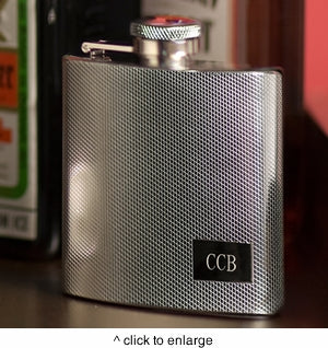 Personalized Textured Flask-Groomsmen Gift Store