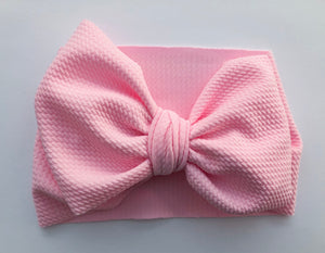 Powder pink stretch headwrap