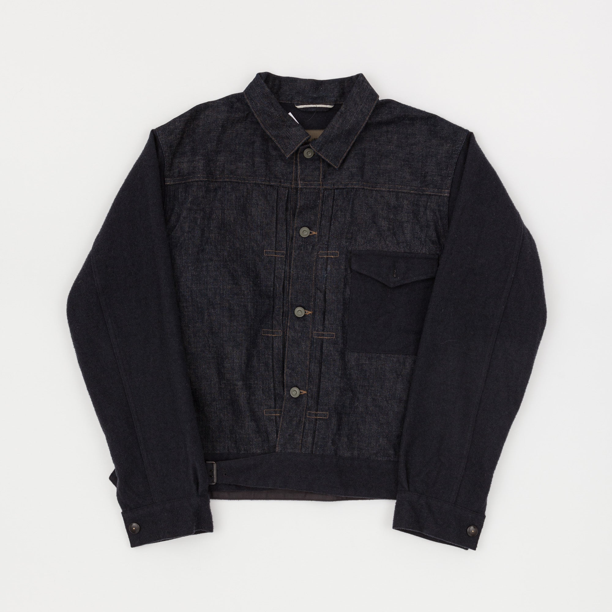 Nigel Cabourn Battle Dress Denim & Wool Jacket