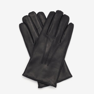 Cashmere Lined Nappa Gloves - Black