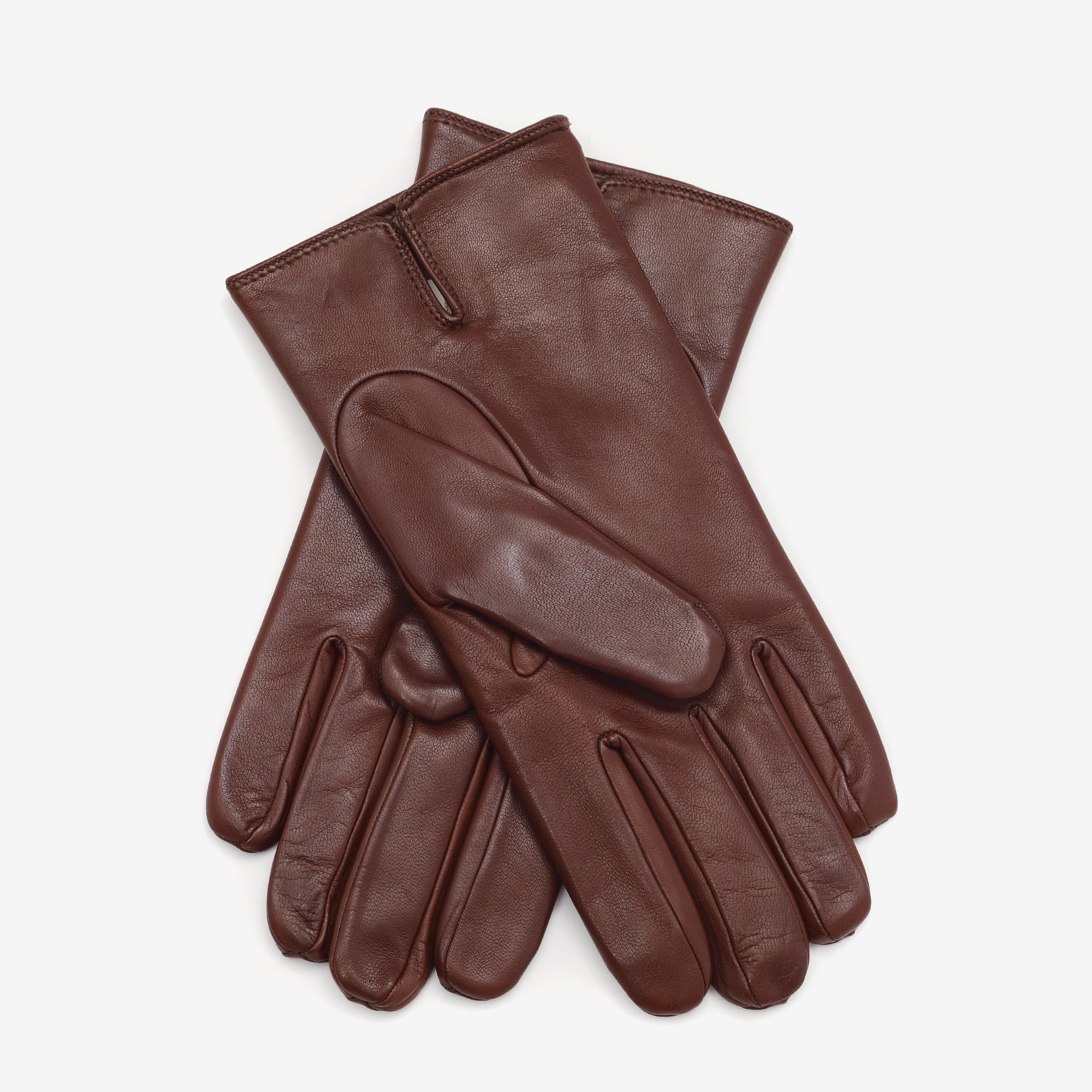 Cashmere Lined Nappa Gloves - Tan