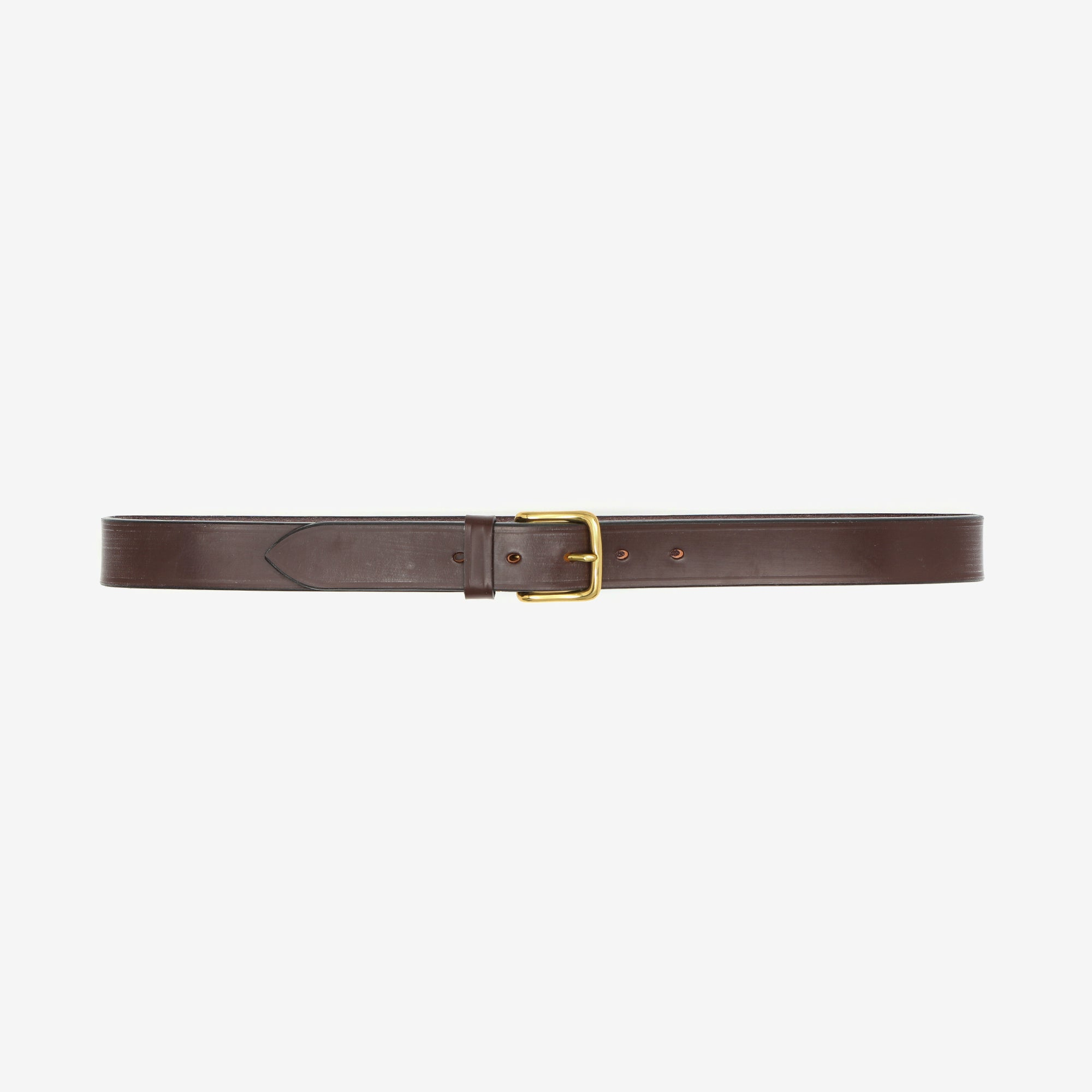 Bridle Leather Belt - Burgundy