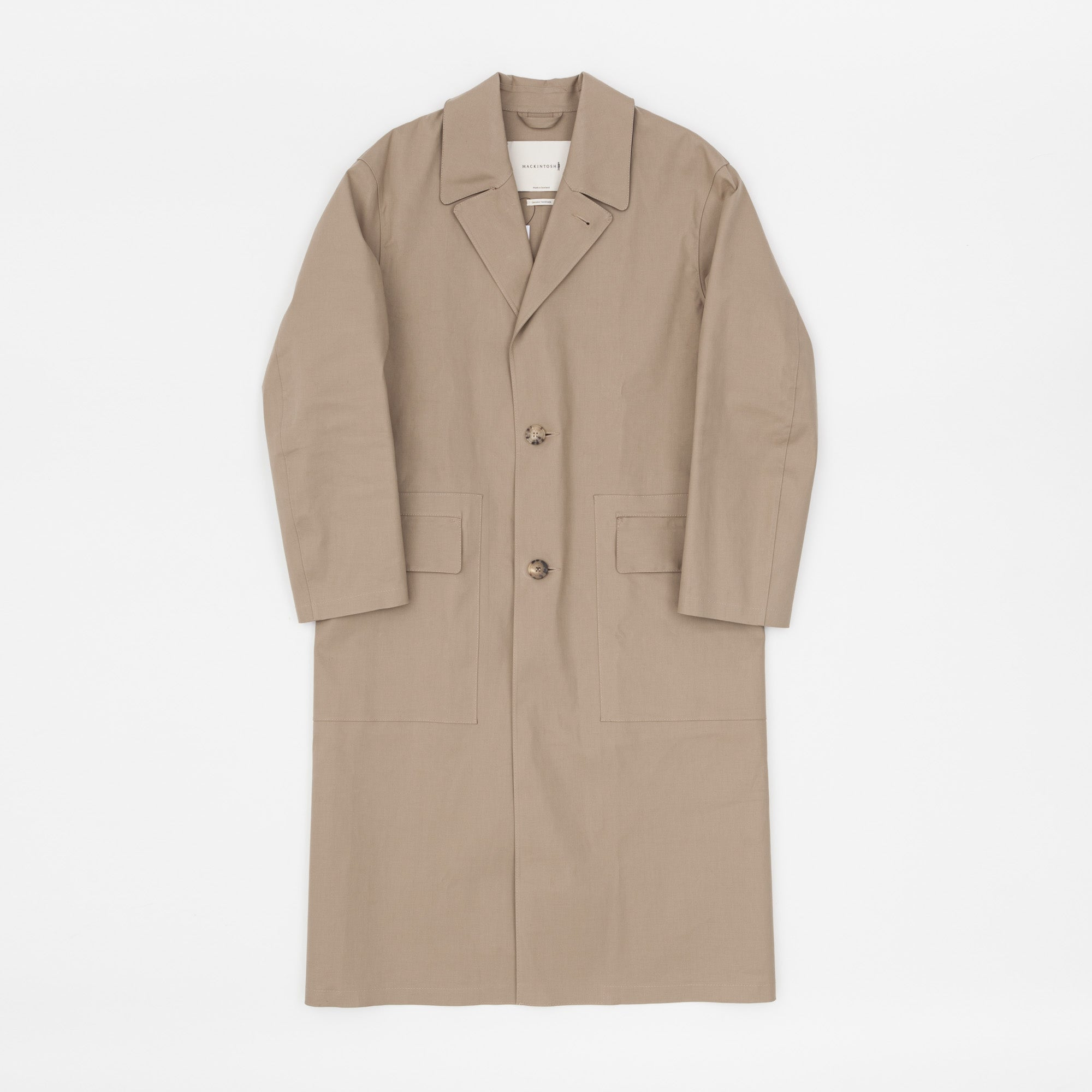 Mackintosh Bonded Cotton Lapel Coat