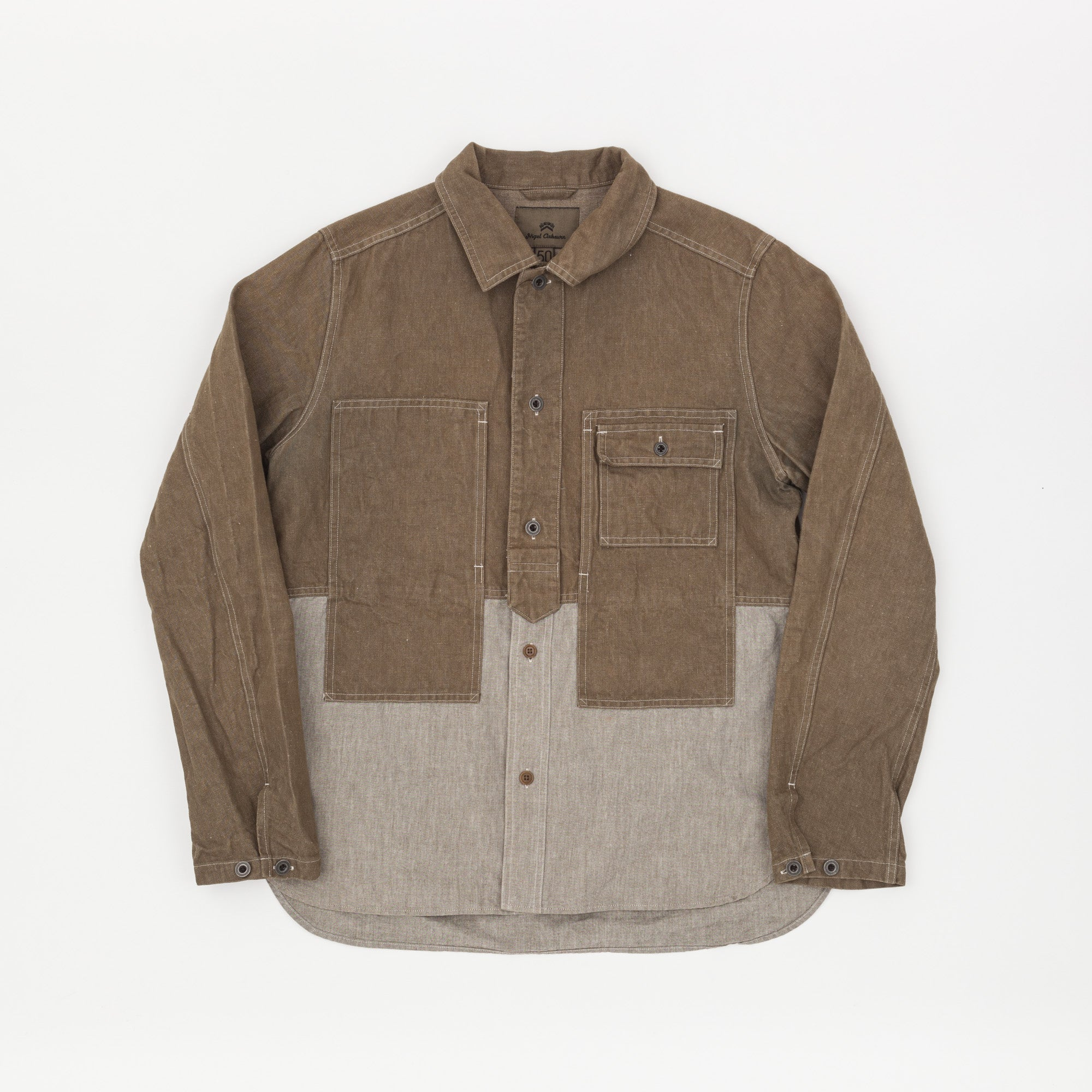 Nigel Cabourn Mainline Two Tone Utility Shirt Jacket
