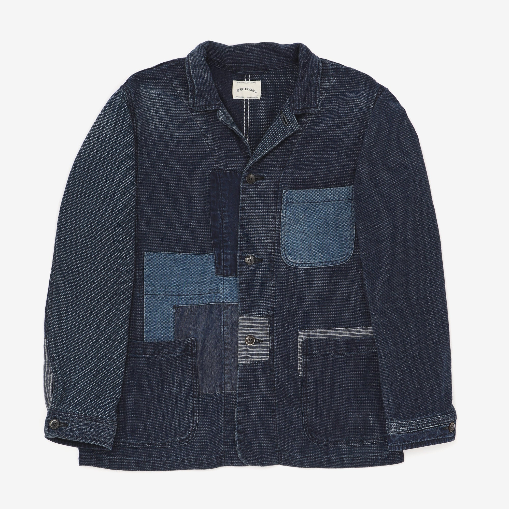 Sashiko Patch Work Chore Coat