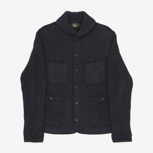 Indigo Dyed Shawl Collar Chore Jacket