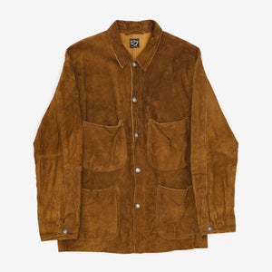 Suede Utility Coverall Jacket