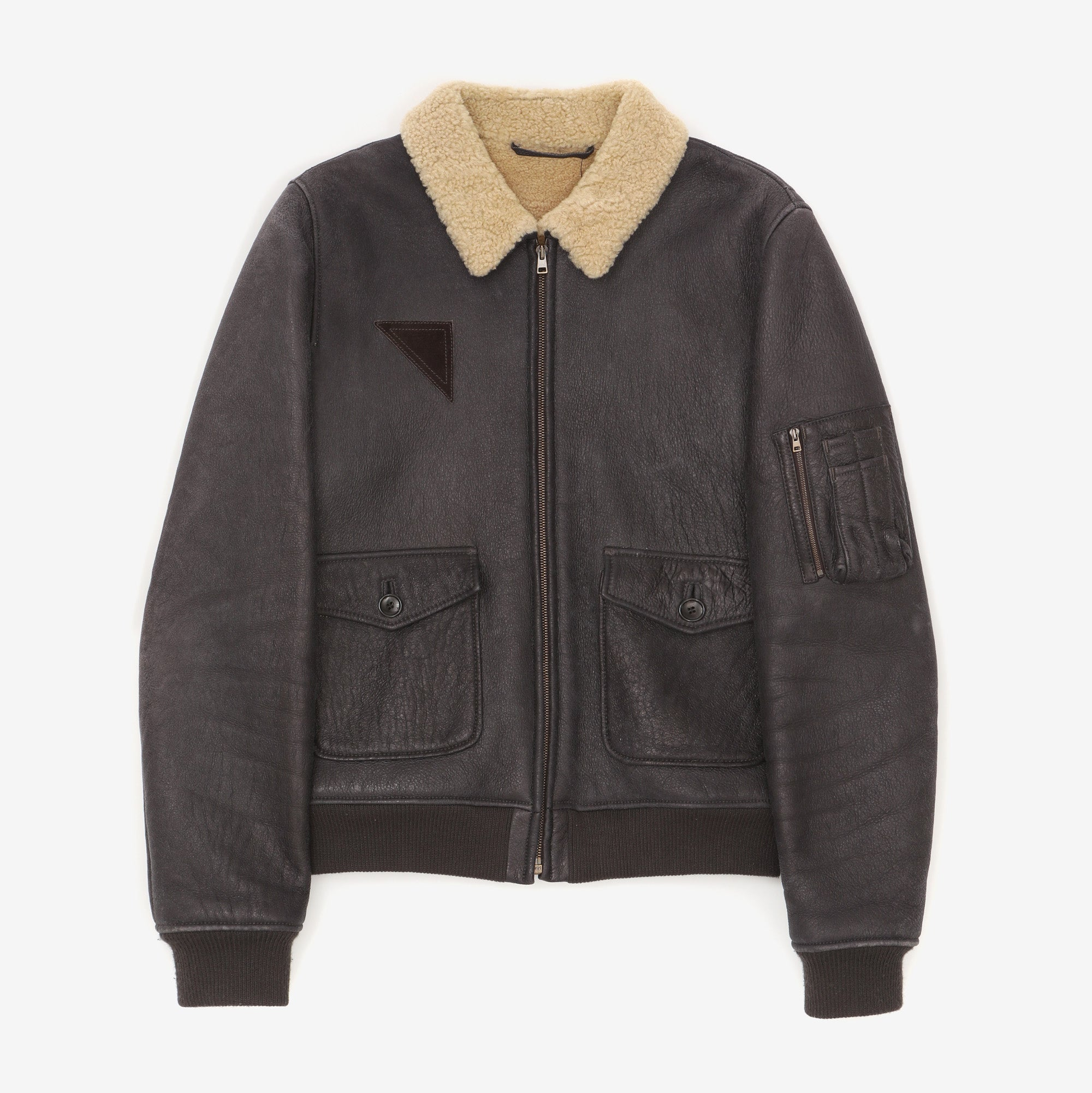 Mouton Lined Leather Flight Jacket