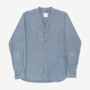 V Neck Chambray Shirt