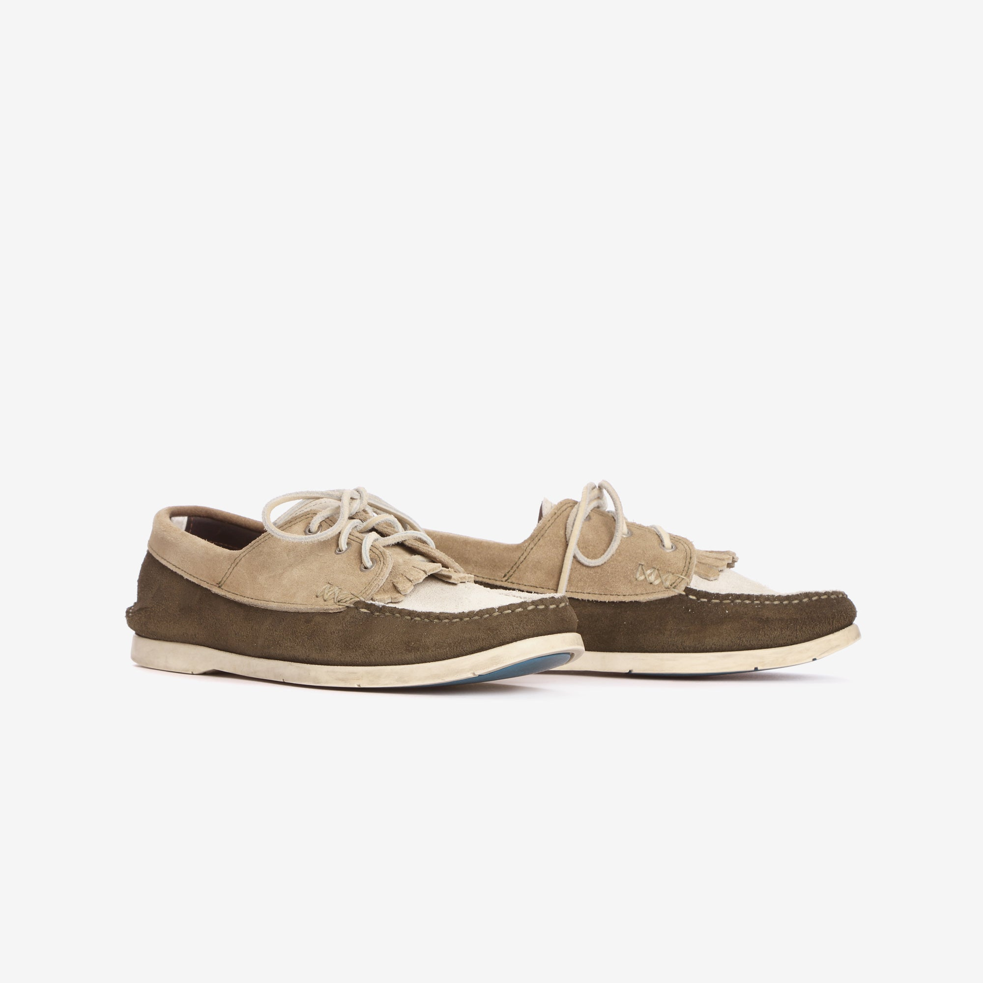 Multi Tone Suede Boat Shoes